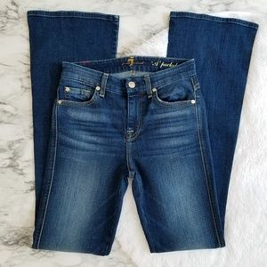 "7 for all mankind ""A"" pocket flare leg jeans 24"